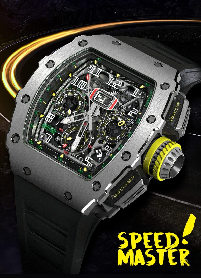 KANUBIN Men Skeleton Automatic Mechanical Watches
