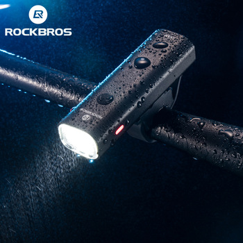 ROCKBROS Bike Light Rainproof USB Rechargeable LED 2000mAh MTB Front Lamp Headlight